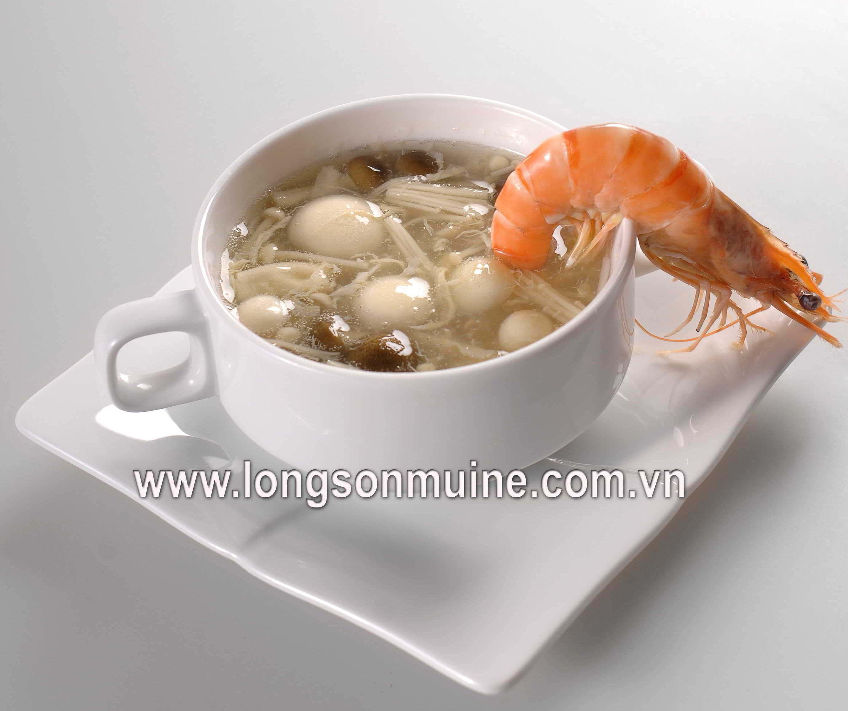 Soup tôm nấm